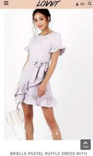 🚚 Brielle pastel dress in lilac
