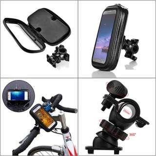 WATERPROOF ROTATING BICYCLE BIKE MOUNT HANDLE BAR HOLDER CASE (SIZE S/L) 15.3 x 9.2 x 3.2 cm