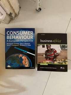 brand new consumer behavior (marketing) and business ethics textbooks