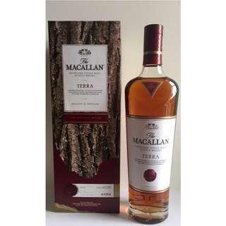 Macallan 麥卡倫 Terra 有盒 蘇格蘭 威士忌 700ml 送禮 收藏