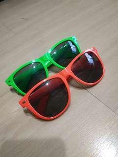 BN neon green orange shades sunglasses