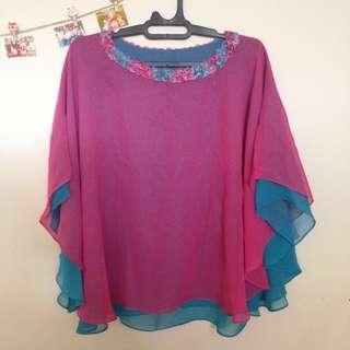 [FREE ONGKIR] Baju atasan blouse Pesta Wedding Kondangan Pink
