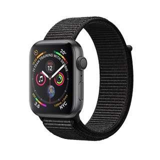 Apple Watch Series 4 44mm Space Gray Black Sport Loop Resmi iBox NEW