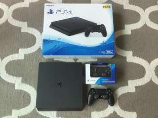 PS4 SLIM 500GB + 2 CONTROLLER + WARRANTY UNTIL 2021