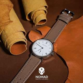 🚚 Emery Chevre Leather Strap in Taupe (available in 20 and 22mm)