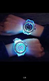 Jam tangan unisek geneva LED waterpoof