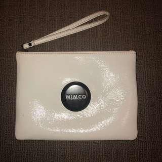 Mimco white wristlet