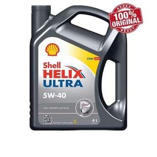 NEW Shell Helix Ultra 5W40 SN/CF Fully Synthetic Engine Oil 4L