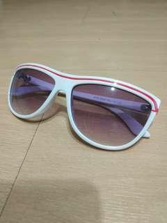 BN tinted white sunglasses red stripe