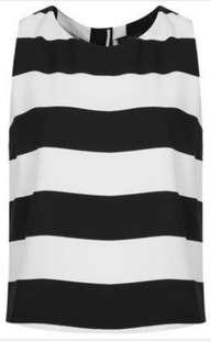 Topshop Black and White Shell Top