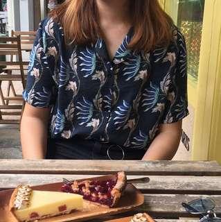🚚 ulzzang tropical shirt blouse