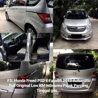 Honda Freed PSD E Facelift 2013 Automatic Full Original Low KM Pajak Panjang Plat B NoPil