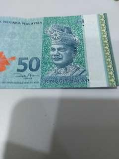 Missing holographic stripe RM50 notes