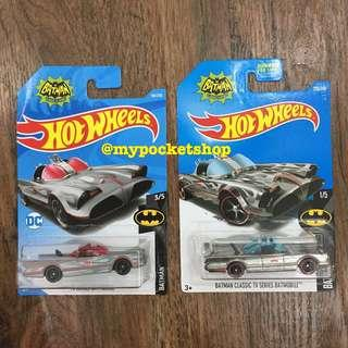 🚚 2x Hot Wheels CLASSIC TV SERIES BATMOBILE (Matt Grey & Zamac)
