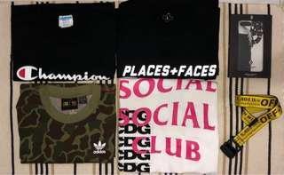 Various Hypebeast apparels