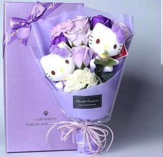 Valentine's Day Gift / Valentine Day Flower Bouquet - Hello Kitty