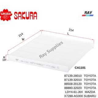 SAKURA CABIN FILTER CA1101 TOYOTA Alphard ANH10W,ANH15W,ATH10W, CAMRY 2001-2006,ALTIS 2001-2008
