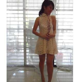 Cheong Sam White Dress