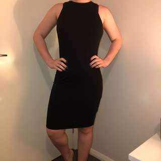 Cotton On black midi dress