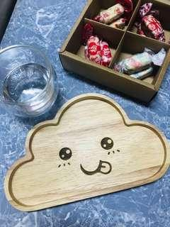Wood Plate - Cloud #TRU50