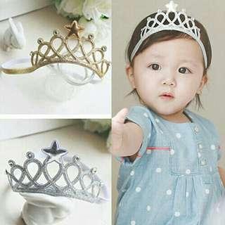 Baby Kids crown headband softband