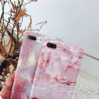 Marmer marble rosegold glossy iphone 7 + plus / 8 + plus