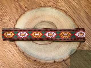 花紋圖騰 寬版緞帶