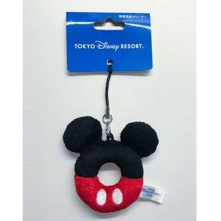 Disney Mickey Mouse Mobile Strap Keyring Phone Cleaner