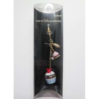 Disney Mickey Mouse Phone Mobile Strap Keyring - Cupcake