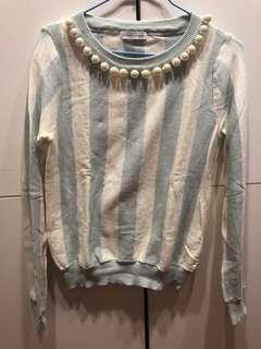 🚚 日牌珍珠項鍊針織衫