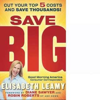 Save Big: Cut Your Top 5 Costs and Save Thousands by Elisabeth Leamy