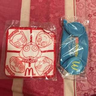 Keroro 筆袋 + 方巾