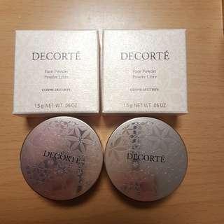 包平郵 2盒 DECORTE face powder 80 glow pink 1.5g