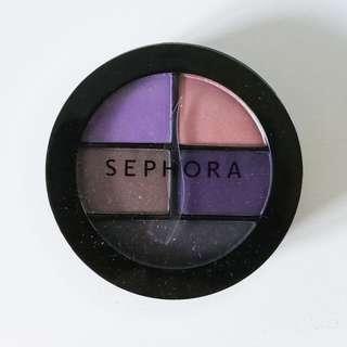 Sephora Natural Eyeshadow Palette Makeup Cosmetic Eye Shadow Purple Brown Nude