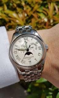 Patek Philippe 5036G Annual Calendar White Gold Bracelet WG For Sale FS
