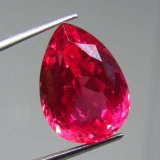Pink Sapphire Corundum Pear Beautiful