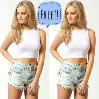 Free High Neck Sleeveless Crop Top #RHD80 #MFEB20