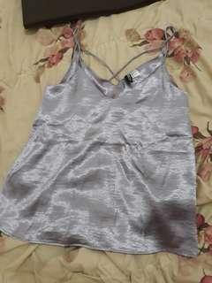 Divinded by hnm silver tank top