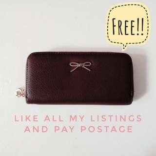 FREE!! Dark Coffee Brown Purse #MFEB20 #RHD80