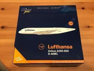 全新Gemini Jets 1:400 LUFTHANSA Airbus A380-800 D-AIMC