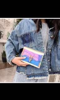 🚚 Bnip holographic sling bag clutch