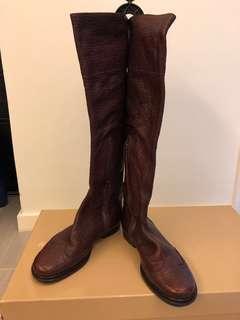 #大特價 Miu Miu Real Leather Long Boots Size 36