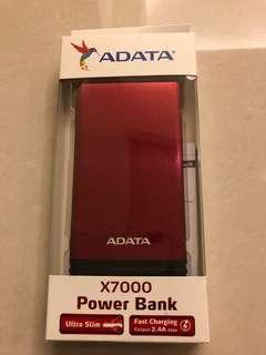 ADATA 威剛 X7000 紅色 7000mAh 行動電源