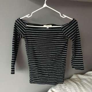 XS Express Striped Off The Shoulder Top