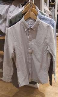 Grey Button Long Sleeve Slim Fit Shirt