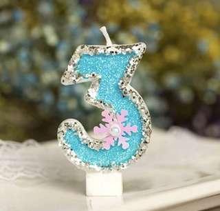 冰雪奇緣蠟燭 - 3歲