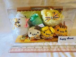 布甸狗一套六隻毛公仔全新有盒 pompompurin pom pom purin Japan Sanrio doll