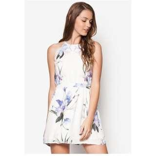 Something Borrowed Ikebana Floral Fit and Flare Dress (S)
