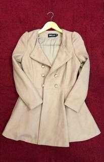 Women Military Style Trench Coat (S)