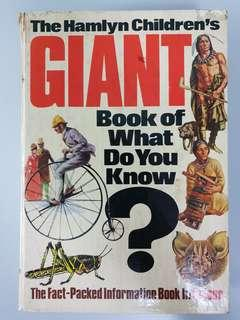 The Hanlyn Children's Giant Book Of What Do You Know